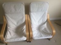 2 x IKEA Poang Children's Chairs & Covers