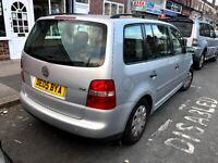 Volkswagen, TOURAN, MPV, 2005, Manual, 1.9 Diesel, 5 doors 7 Seater, slvr