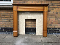 Mantelpiece and stone fire surround