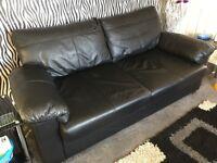Black Lether Sofa