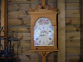 Decorative Danbury pine wall mounted clock