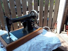 Old singer sewing machine electric.