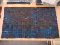 Cobalt blue small square wall tiles - approx 600