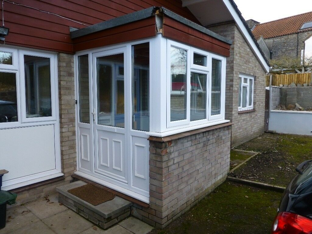White Upvc Double Glazed Porch In Nailsea Bristol