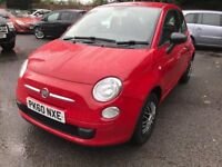 60 plate - Fiat 500 Pop - 1.2 petrol - warranted low 40K - £30/year tax - body coloured dash