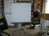 projector screen the screen nominally 1000mm x 1000mm
