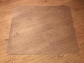Office floor chair mat