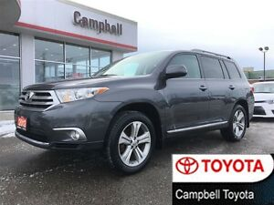 2012 Toyota Highlander SPORT  HEATED LEATHER---4X4---MOON ROOF