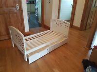 Mamas & Papas Junior bed, mattress and under draw