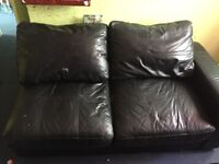 !!!FREE!!! BLACK LEATHER CORNER SOFA