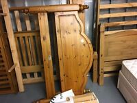 NICE DOUBLE PINE BED FRAME