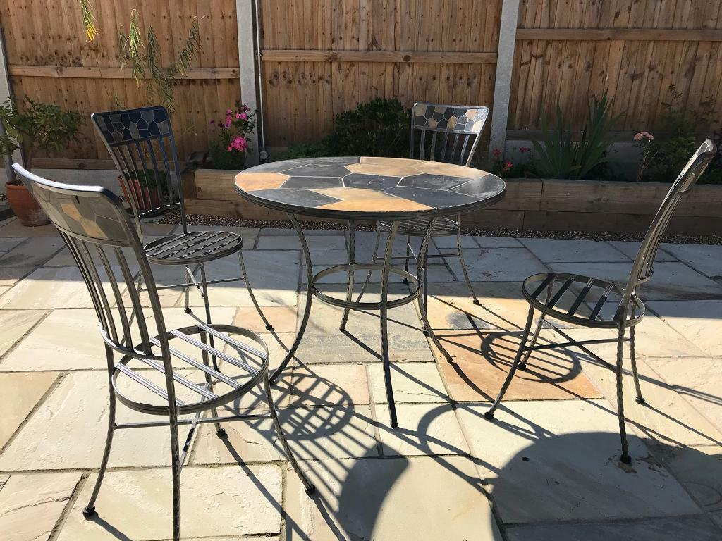 Mosaic And Wrought Iron Indoor Dining Set In Witham Essex Gumtree