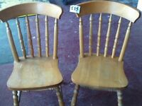 2 pine country chairs