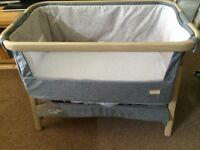 Tutti Bambini Cozee Bedside Crib - Travel Cot - Very Good Condition