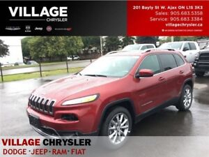 2017 Jeep Cherokee Limited|Leather|Nav|Remote|Heated Seats