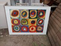 Large 4ft x 3ft framed poster by Kandinsky