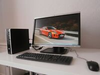 HP COMPAQ 8200(i5) ELITE USDT PC ULTRA SLIM+HP 22 INCH MONITOR