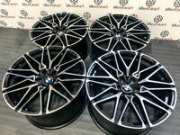 "NEW 20"" 21"" BMW X4M V2 STYLE ALLOY WHEELS - 5 x 120 or 5 x 112 - BLACK/DIAMOND CUT"
