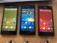 X2 Sony Xperia Z3 black 16GB unlocked! Very good condition with chargers x