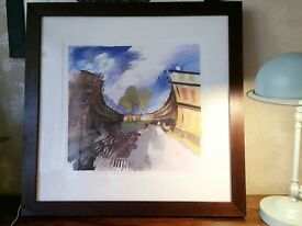 James Vinciguerra, The Circus, Bath, framed & signed, limited edition.
