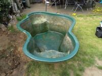 Used pre formed fibre glass fish pond