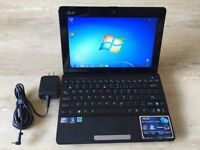 LAPTOP NETBOOK SMALL ASUS WINDOW 7 WIFI READY