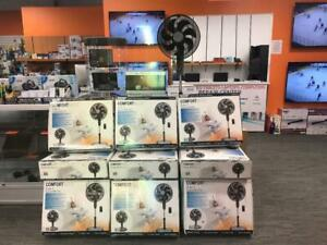 CONVERTIBLE PEDESTAL FAN WITH REMOTE CONTROL OPEN BOX ONLY FOR $30 WITH WARRANTY