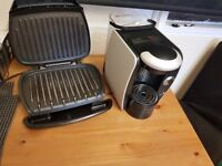 George foreman grill and tassimo coffee machine