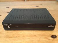 Humax HB-1000S freeview freesat box, cables and remote