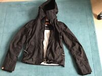 Super dry The Windcheater double zip hooded size SMALL