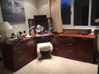 Real wood (mahogony) fitted bedroom for sale