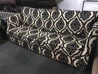 Large fabric 4 seater sofa