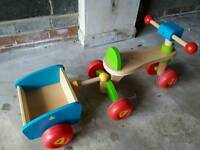 ELC wooden Trike with Trailer