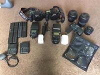 Sony A77 & A77ii + lenses, flash guns, grip, batteries