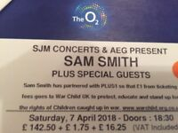 Sam Smith VIP lounge tickets for tonight Sat 7th at the O2