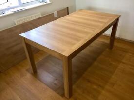 NEXT Oak veneer dining table (Extending)