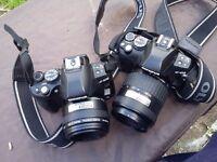 Two digital cameras olympus E620 E410
