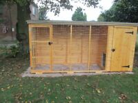 4ft x 4ft dog kennel with a 8ft run