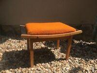 Vintage Foot Rest Stool Bent Wood, German Mid-Century Furniture Retro