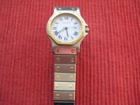 Cartier Santos Octagon Mens Watch, Automatic - Stainless Steel & 18K Gold.