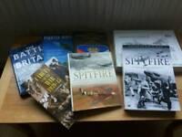 WW2 & plane hardback books
