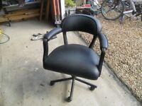 Black barbers chair