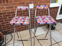 Pair of stools bar stools breakfast bar