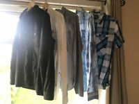 JOB LOT OF GERNUINE G-STAR GSTAR SHIRTS AND ONE JACKET ALL SIZE LARGE ALL IN GREAT CONDITION
