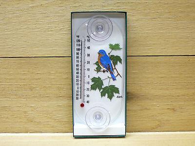 (Aspects Original Window Mount Thermometer Bluebird / Maple #203 indoor outdoor)