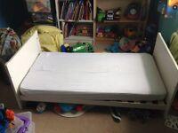 Mothercare Sanctuary Cot Bed, VGC, White