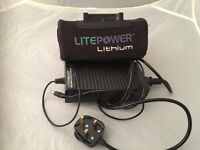 Litepower Lithium electric golf trolley battery and battery charger - USED