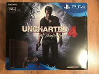 PS4 Slim (Latest quietest version) 500gb with Uncharted 4 game