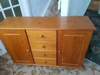 Side board solid pine with cupboard & drawers