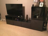 IKEA besta multifunctional display cabinet and tv unit